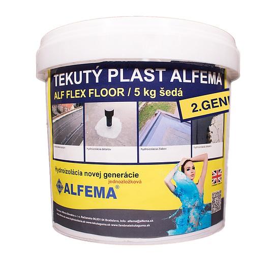 Tekutý plast ALF FLEX Floor 2.generácia antracitovosivá, Balenie 5 kg