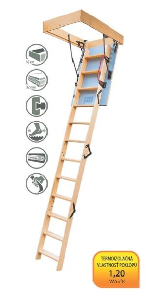 Radex Energy podkrovné schody 120x60 cm 3-segmentové
