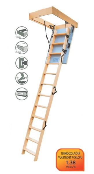 Radex Termo podkrovné schody 120x60 cm 3-segmentové