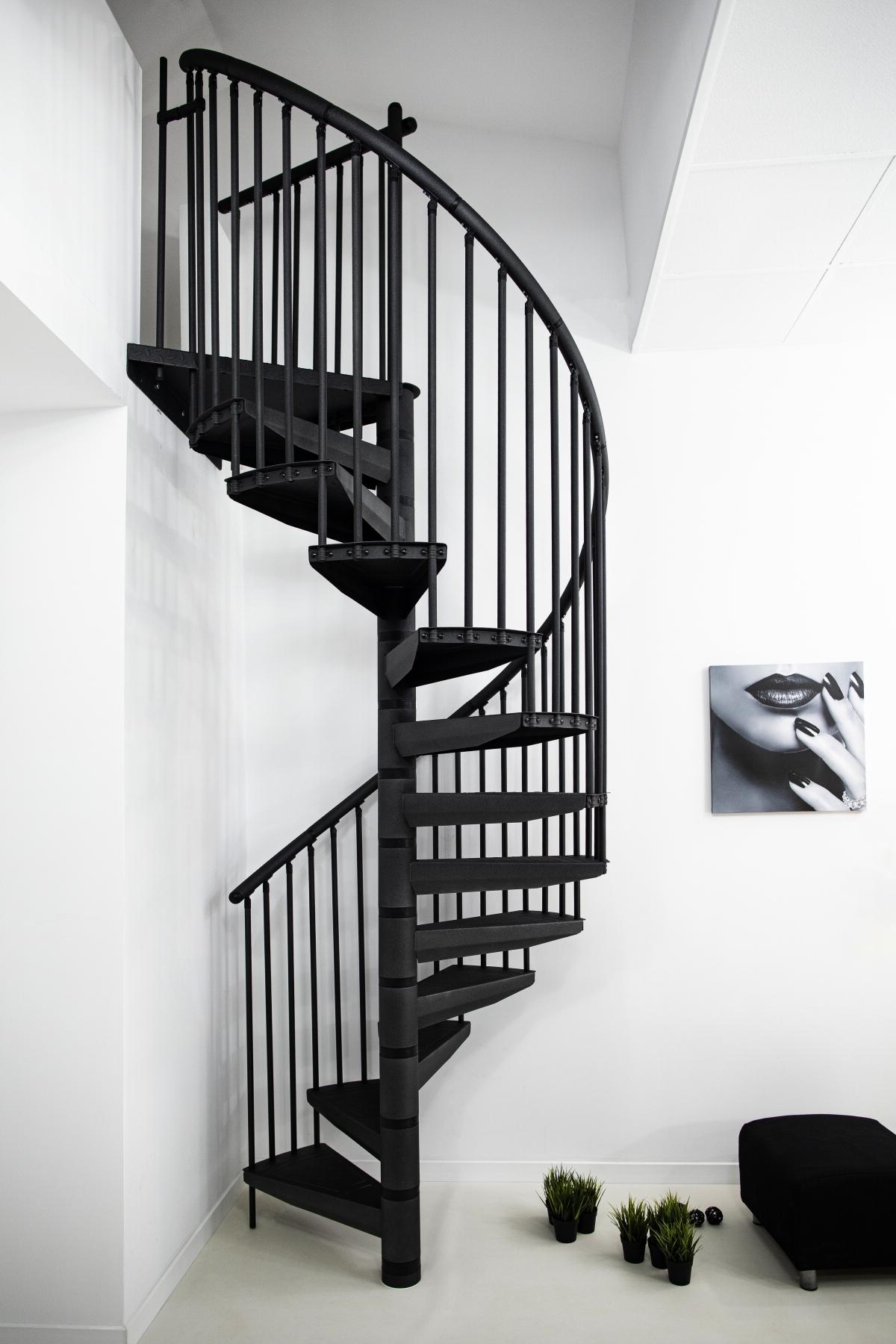 MINKA Rondo Color 120 točité schodisko, Rozmery do výšky 299 cm